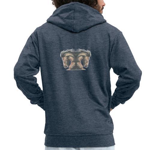 Cheval cabré étalon - Veste à capuche Premium Homme