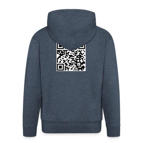 QR code - Männer Premium Kapuzenjacke