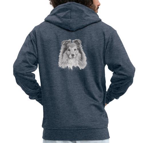 shetland sheepdog sheltie - Herre premium hættejakke