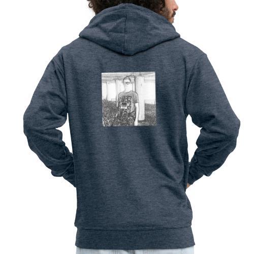 Tim Brown Sketch - Men's Premium Hooded Jacket