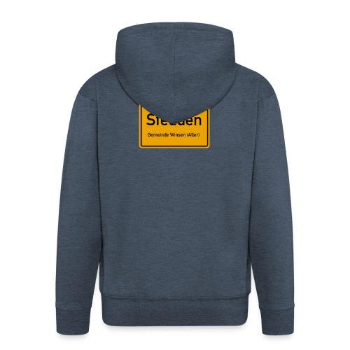 Stedden - Das Dorf am Rande der Lüneburger Heide - Männer Premium Kapuzenjacke