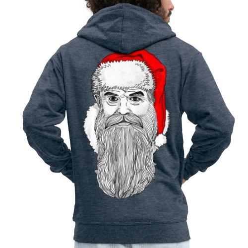 Weihnachtsmann mit roter Mütze - Männer Premium Kapuzenjacke