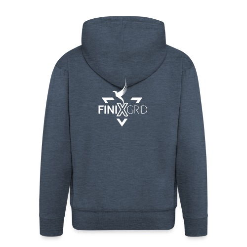Finix White - Men's Premium Hooded Jacket