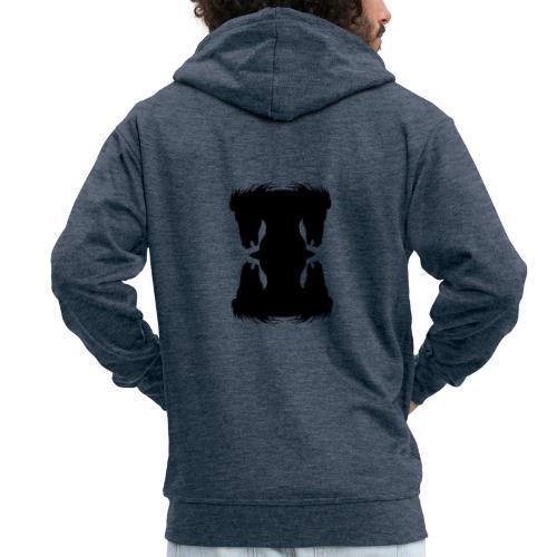 Cheval cabré en ombres chinoise - Veste à capuche Premium Homme
