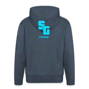 SpudGamer Logo - Men's Premium Hooded Jacket