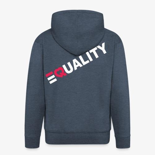 EQUALITY WIT - Mannenjack Premium met capuchon