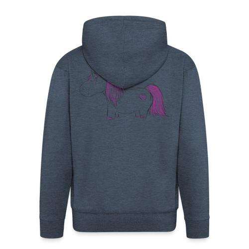 Pink Unicorn - Männer Premium Kapuzenjacke