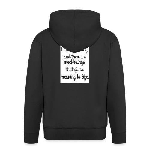 Phrase d'amour en anglais - Veste à capuche Premium Homme