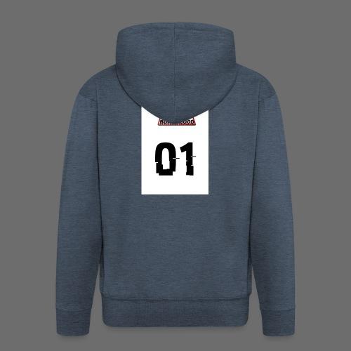 Boar blood 01 - Rozpinana bluza męska z kapturem Premium