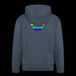 Hart in regenboog kleuren - Mannenjack Premium met capuchon