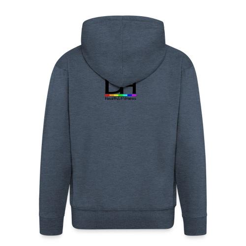 DH Health&Fitness Black Logo - Men's Premium Hooded Jacket