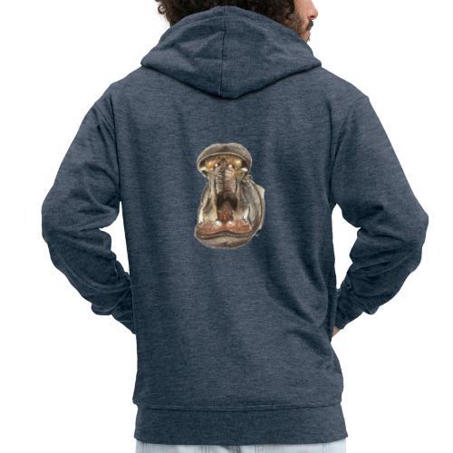 Flusspferd - Männer Premium Kapuzenjacke