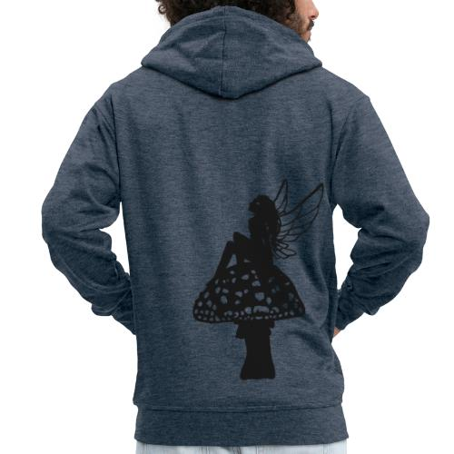 Silver fairy BLACK - Men's Premium Hooded Jacket