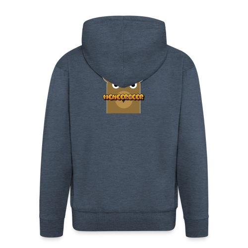 Tekst + logo kleding - Mannenjack Premium met capuchon