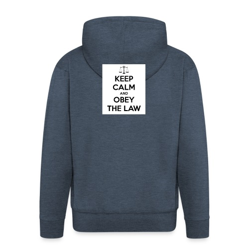 KeepCalm - Männer Premium Kapuzenjacke