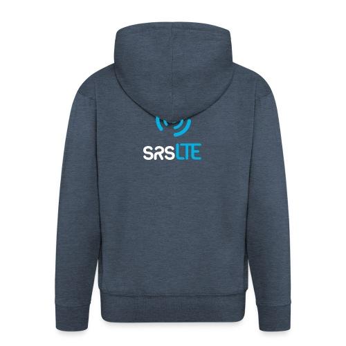 srsLTE vertical bluewhite - Men's Premium Hooded Jacket