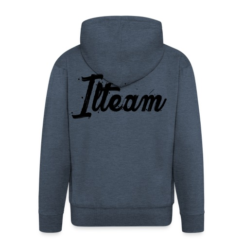 Ilteam Black and White - Veste à capuche Premium Homme