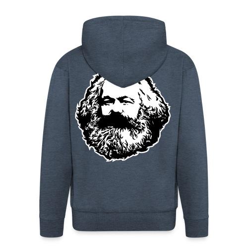 Karl Marx - Felpa con zip Premium da uomo