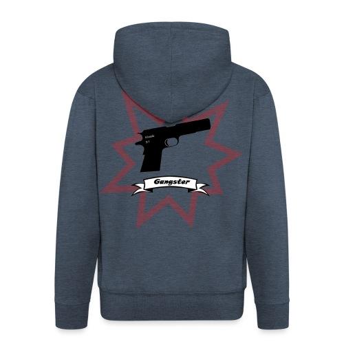 Gun with boom! - Men's Premium Hooded Jacket