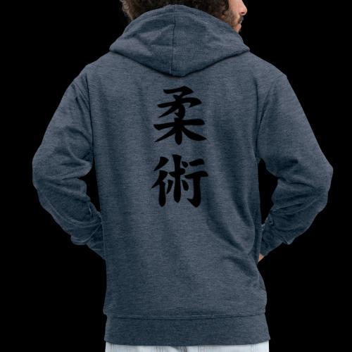 ju jitsu - Rozpinana bluza męska z kapturem Premium
