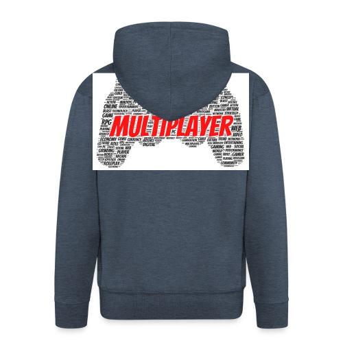 GAMER PAD - Rozpinana bluza męska z kapturem Premium