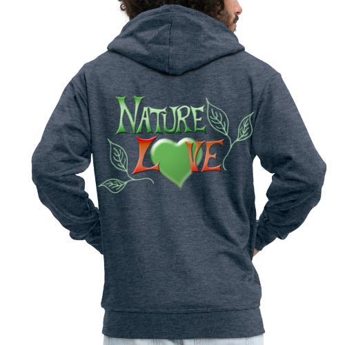 Nature Love - Männer Premium Kapuzenjacke