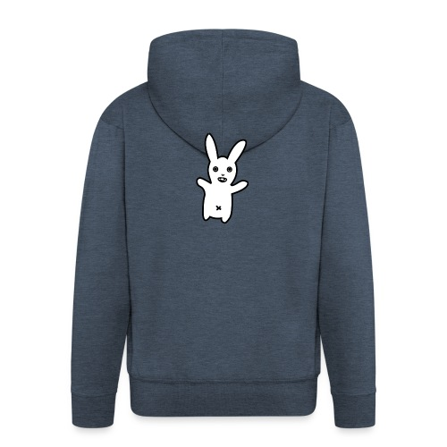Bunny Wave Logo - Mannenjack Premium met capuchon
