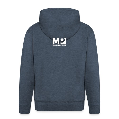 ManigProductions White Transparent png - Men's Premium Hooded Jacket