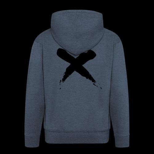 x - Felpa con zip Premium da uomo