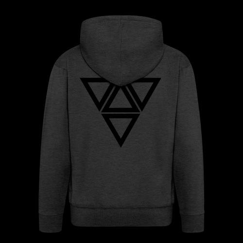 triangle - Felpa con zip Premium da uomo