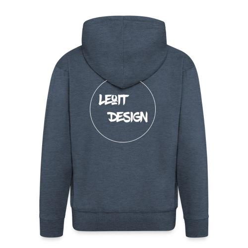 LeqitLogo - Männer Premium Kapuzenjacke