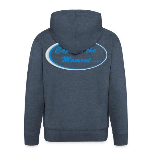 Logo capture the moment - Men's Premium Hooded Jacket