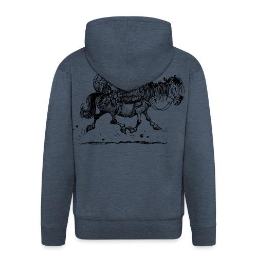 Thelwell Two Cowboys Reiten - Männer Premium Kapuzenjacke