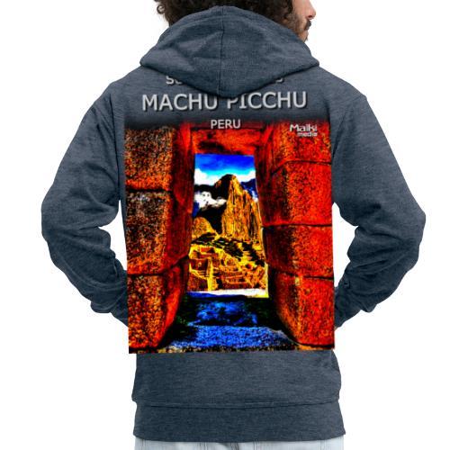 SOJA de los ANDES - Machu Picchu II - Chaqueta con capucha premium hombre