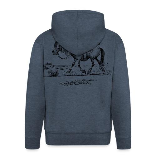 Thelwell Cowboy mit einem Stinktier - Männer Premium Kapuzenjacke