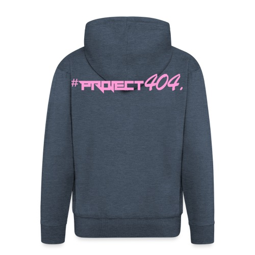 #project404 pink - Men's Premium Hooded Jacket
