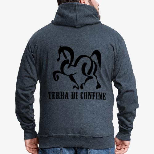 logo TDC nero - Felpa con zip Premium da uomo