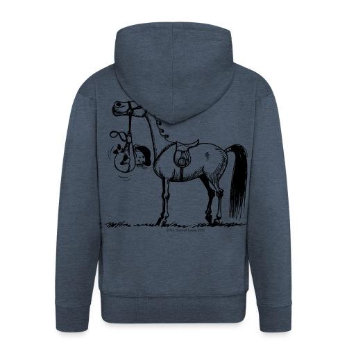 Thelwell Cartoon Stures Pony - Männer Premium Kapuzenjacke
