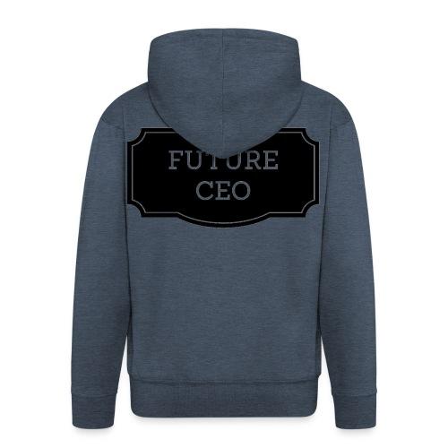 Future CEO - Rozpinana bluza męska z kapturem Premium