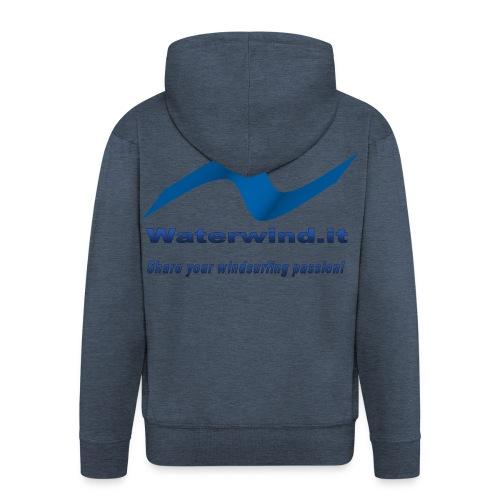 logo waterwind lycra magliette no sfondo png - Men's Premium Hooded Jacket