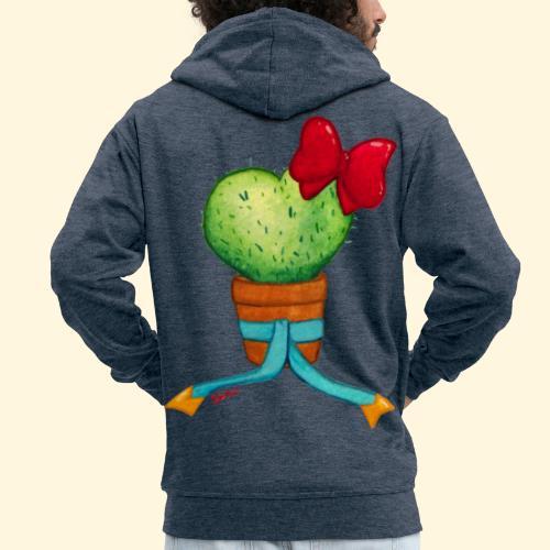 Cactus Coeur - Veste à capuche Premium Homme