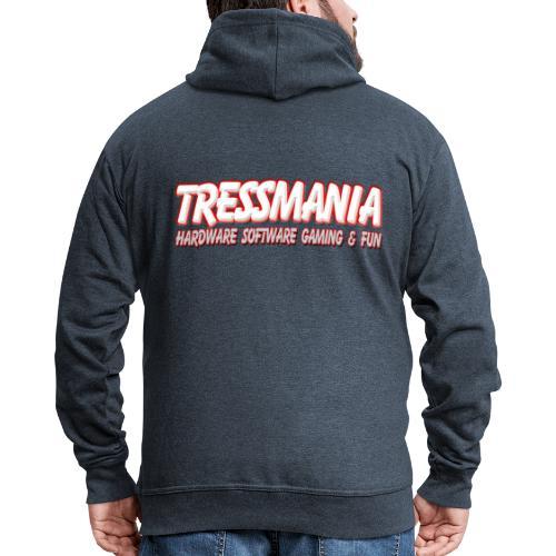 Tres Mania Logo - Men's Premium Hooded Jacket