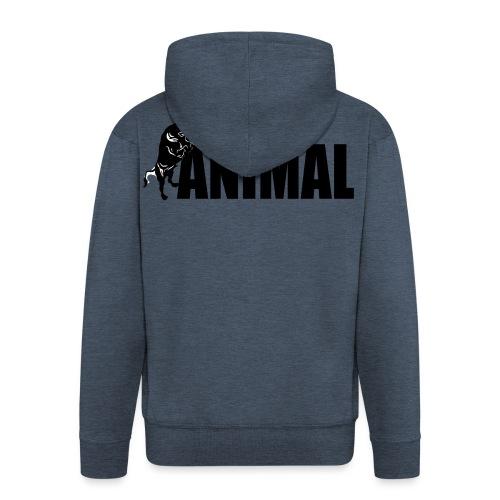 animal palestra - Felpa con zip Premium da uomo