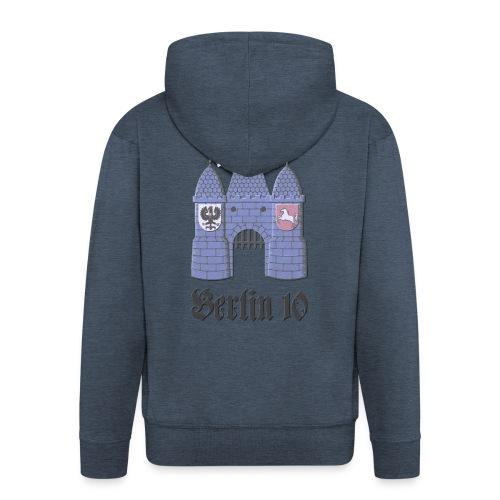 berlin10_wappen_dunkel - Männer Premium Kapuzenjacke