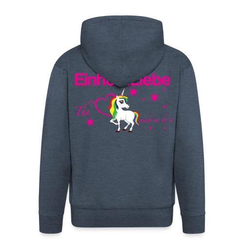 The-Unicorn_made_me_do_it_EInhornLiebe - Männer Premium Kapuzenjacke