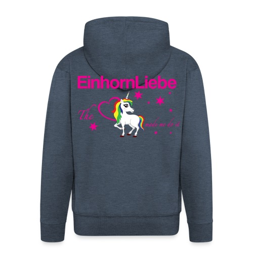 The-Unicorn_made_me_do_it_EInhornLiebe - Männer Premium Kapuzenjacke