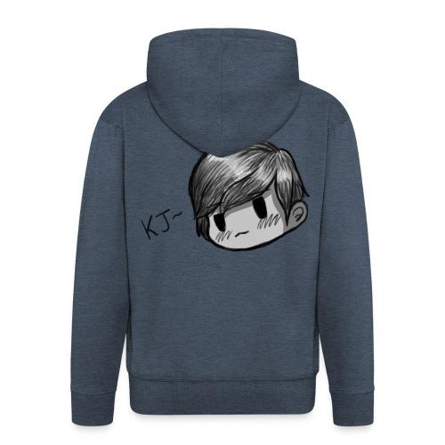 KJ (Black and White Version) - Men's Premium Hooded Jacket