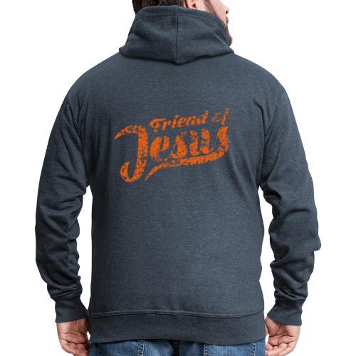 Friend of Jesus orange - Männer Premium Kapuzenjacke