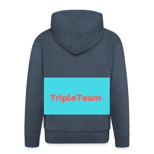 TripleTeam Logo - Mannenjack Premium met capuchon