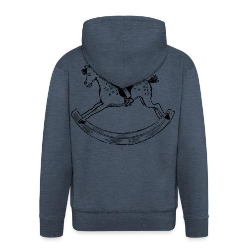 konik na biegunach - Rozpinana bluza męska z kapturem Premium